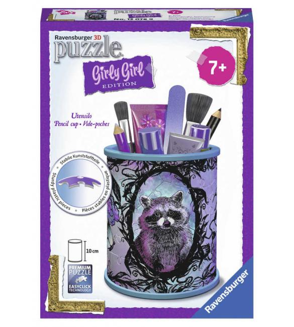 """3D Пазл Girly Girl """"Подставка для карандашей Животные"""""""