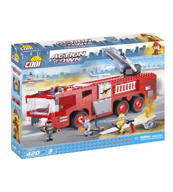 Конструктор Cobi Action Town - Пожарная машина в аэропорту