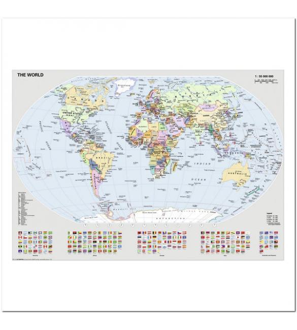 Пазлы Политическая карта Мира 1000