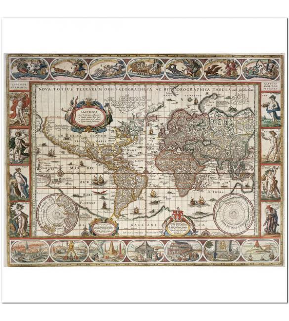 Пазлы Карта Мира 1650 года  2000