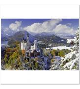 Пазлы Замок Нойшванштайн зимой 3000