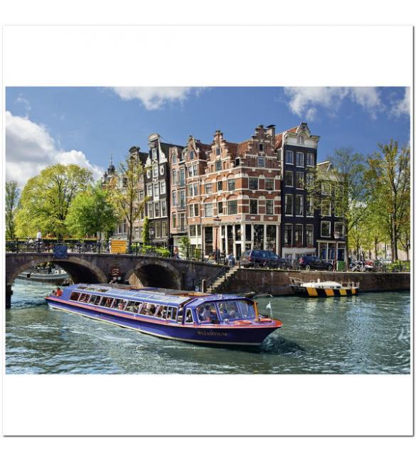 Пазлы Экскурсия по каналу, Амстердам 1000