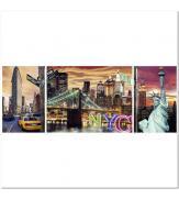 Пазлы Сияющий Нью-Йорк 1000. Триптих