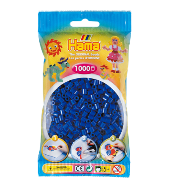 Набор 1000 синих бусин для термомозаики 5+