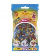 Набор 1000 цветных бусин для термомозаики 6 полупрозрачных цветов 5+