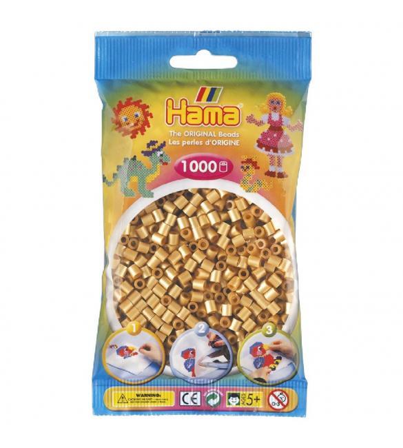 Набор 1000 бусин для термомозаики под золото 5+