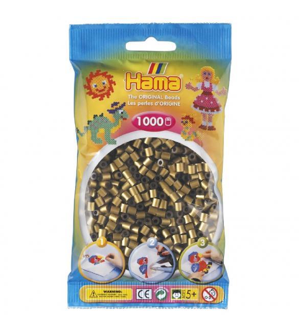 Набор 1000 бусин для термомозаики под бронзу 5+
