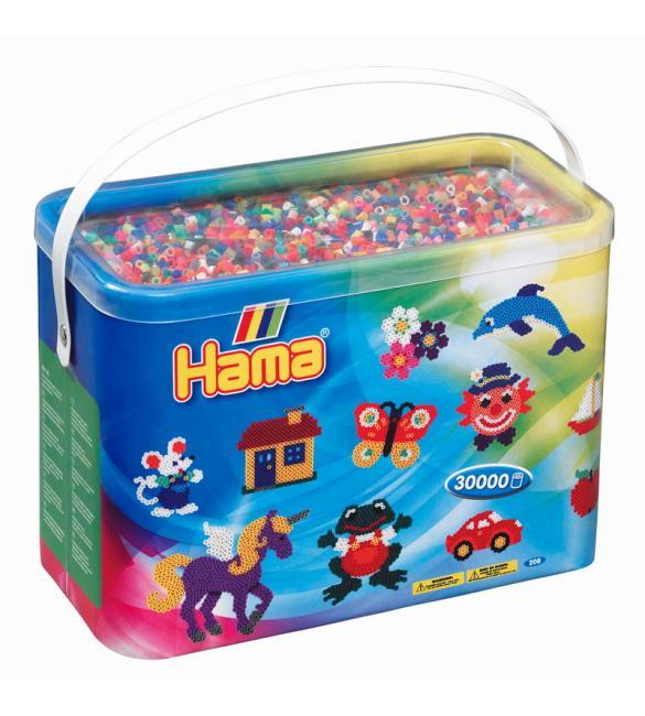 Набор 30 000 цветных бусин для термомозаики, 22 цвета  в корзинке 5+