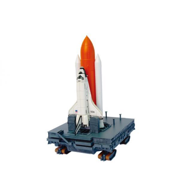 Объемный пазл Спейс Шаттл с ракетой-носителем на стартовой площадке