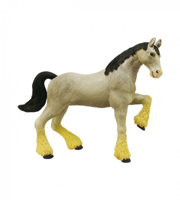 Объемный пазл Лошадь тяжеловоз серая