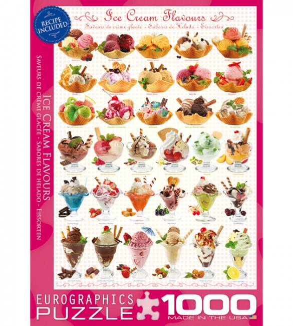 Пазлы Мороженое 1000