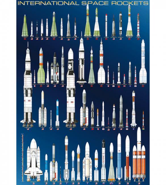 Пазлы Космические ракеты 1000
