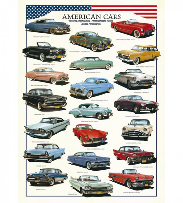 Пазлы Американские автомобили 1950х 1000