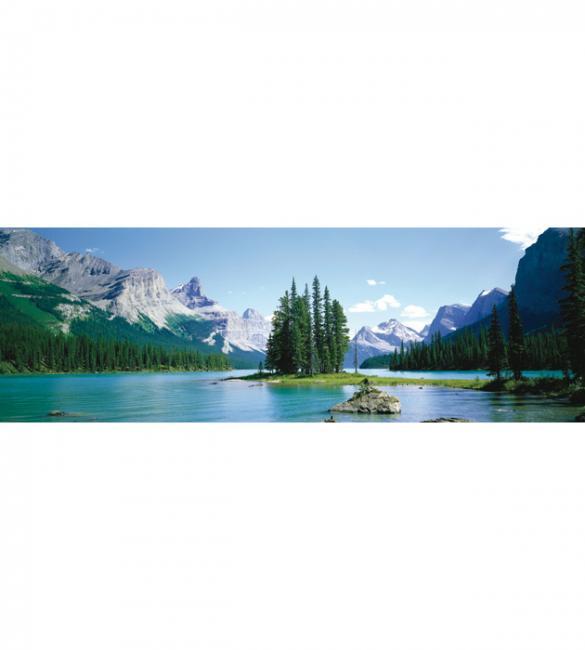 Пазлы Канадские Скалистые горы, озеро Малайн 750.Панорама