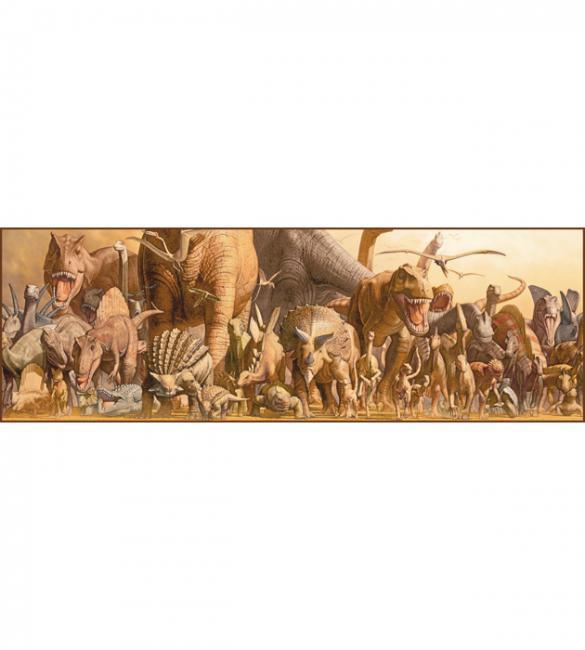 Пазлы Динозавры 750. Панорама