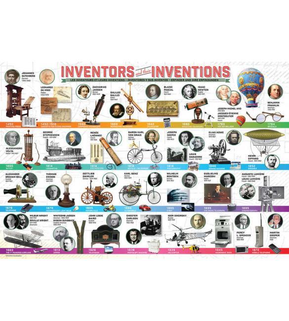Пазлы Изобретатели и их изобретения 200