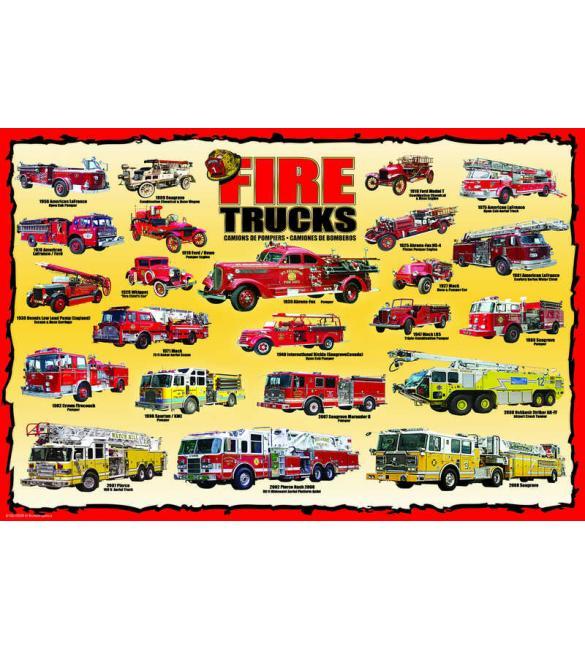 Пазлы История пожарных машин 100