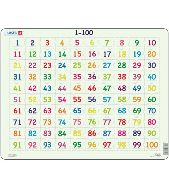 Пазлы Карта Числа