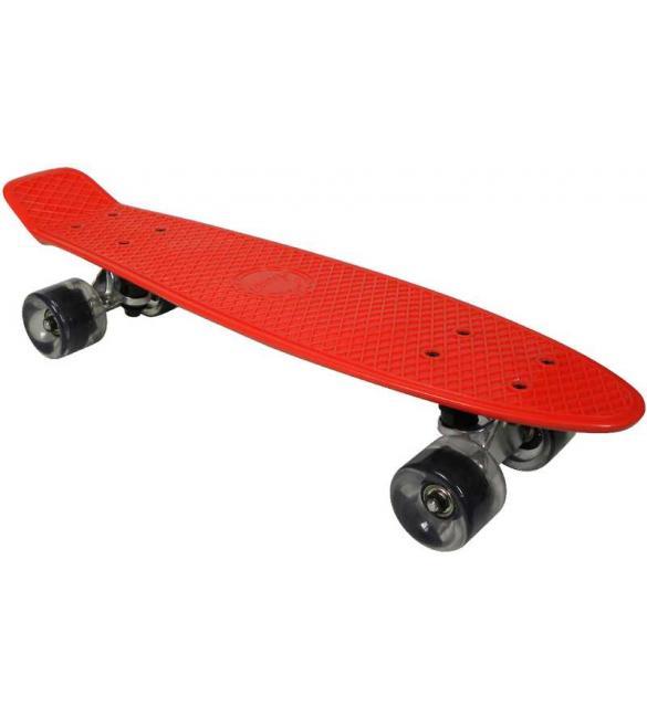 Скейтборд AWAII SK8 Vintage 22.5' красный, до 100кг