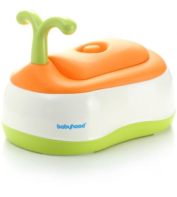 Детский горшок BH-101 Babyhood White-Green-Orange оранжевый