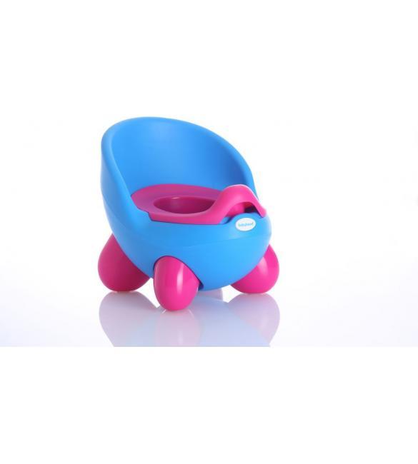 Детский горшок Babyhood Кью Кью BH-105B, голубо-розовый