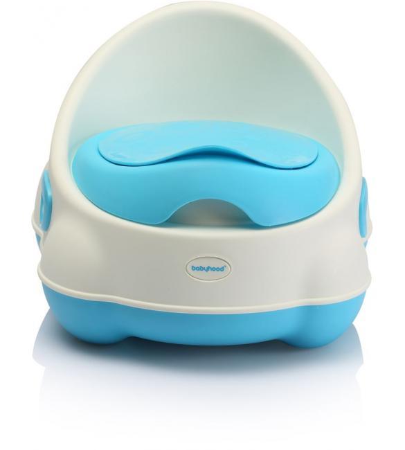 """Детский горшок BH-112WB Babyhood """"Изобретатель"""" бело-голубой"""