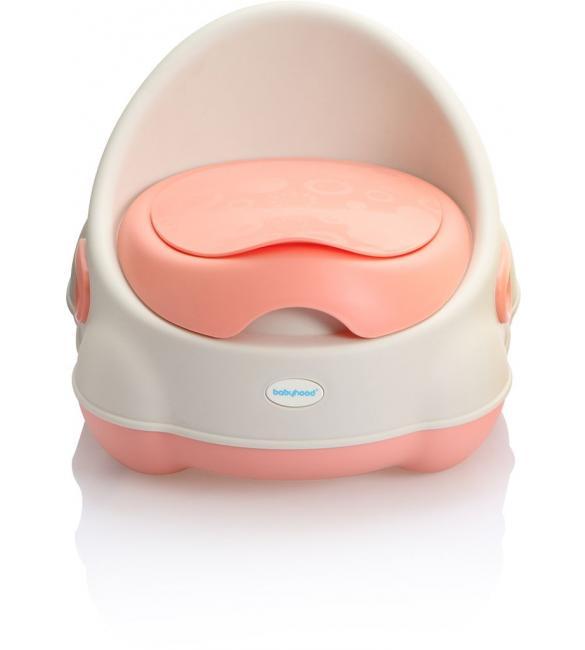 """Детский горшок BH-112WP Babyhood """"Изобретатель"""" бело-розовый"""