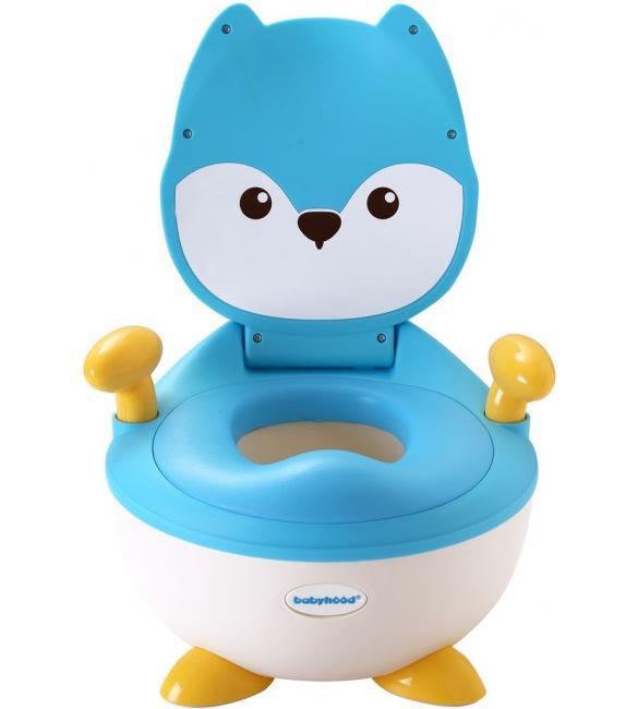 """Детский горшок Babyhood BH-113FB """"Лисенок"""" с полиуретановым кольцом голубой"""