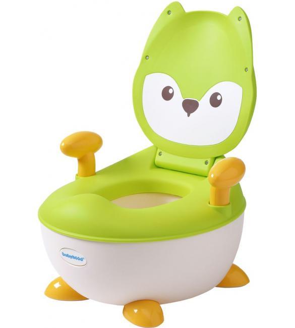 """Детский горшок Babyhood BH-113FG """"Лисенок"""" с полиуретановым кольцом зеленый"""