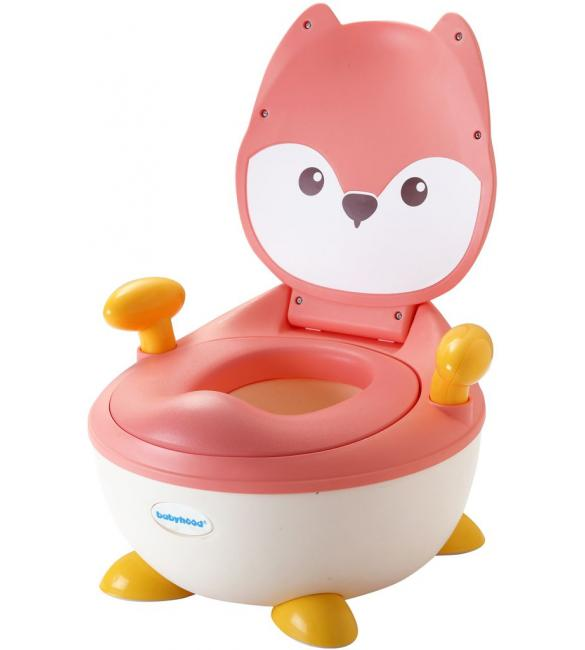 """Детский горшок Babyhood BH-113FP """"Лисенок"""" с полиуретановым кольцом розовый"""