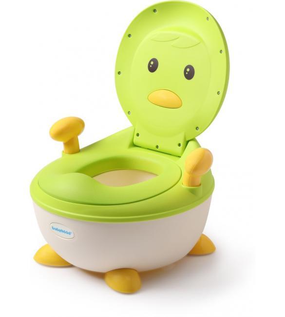 """Детский горшок Babyhood ВН-113PG """"Пингвин"""" с полиуретановым кольцом зеленый"""