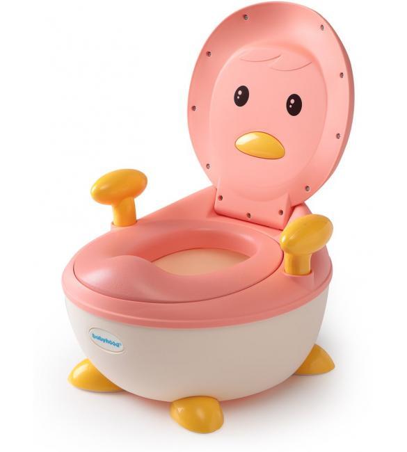 """Детский горшок Babyhood ВН-113PP """"Пингвин"""" с полиуретановым кольцом розовый"""