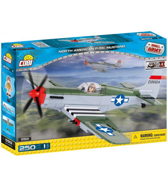 Конструктор COBI Вторая Мировая Война Самолет Мустанг