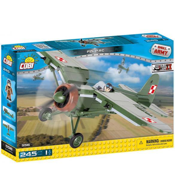 Конструктор COBI Вторая Мировая Война Самолет PZL P.11C