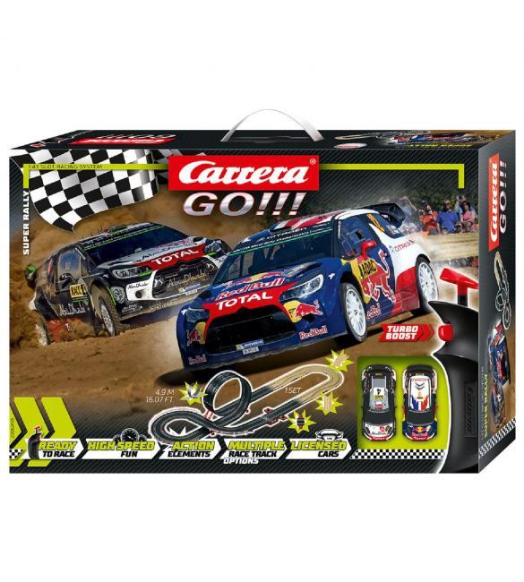 Автотрек Carrera GO!!! Супер Ралли, длина трассы 4.9м