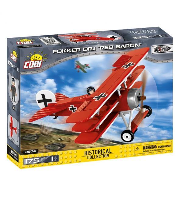 """Конструктор COBI Самолет """"Fokker Dr. I Красный барон"""" , 175 деталей"""