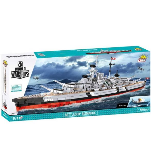 Конструктор COBI World Of Ships Линкор Бисмарк