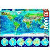 Светящиеся пазлы Карта Мира 1000