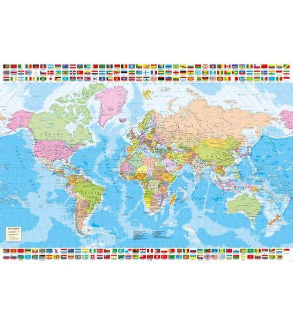 Пазлы Политическая карта мира 1500
