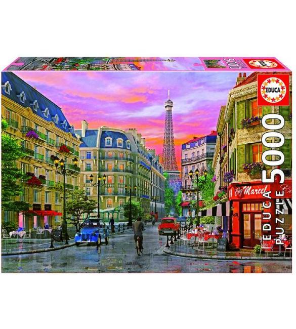 Пазлы Парижская улица 5000