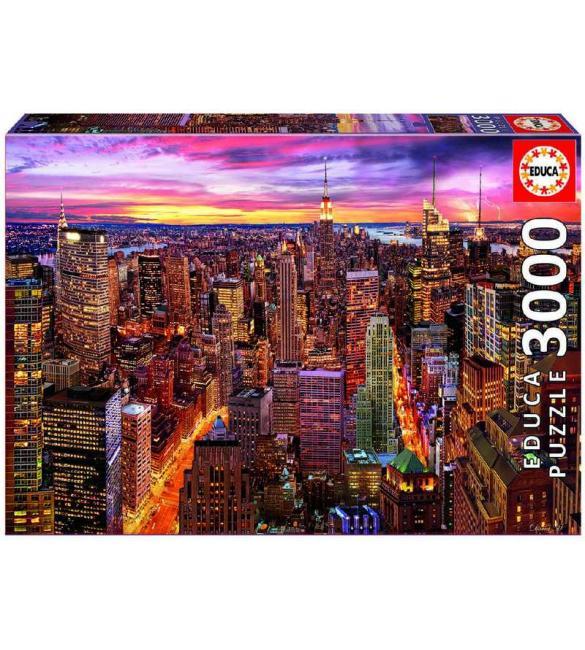 Пазлы Вид на Манхеттен 3000