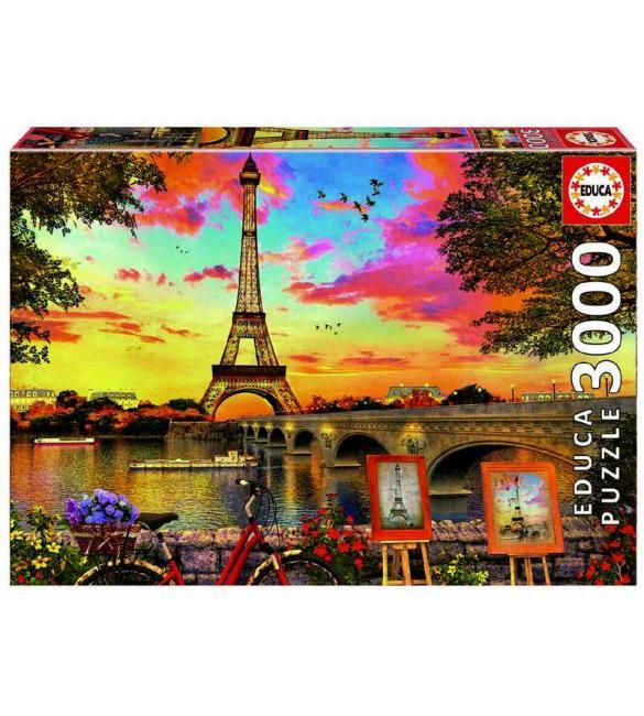 Пазлы Закат в Париже 3000