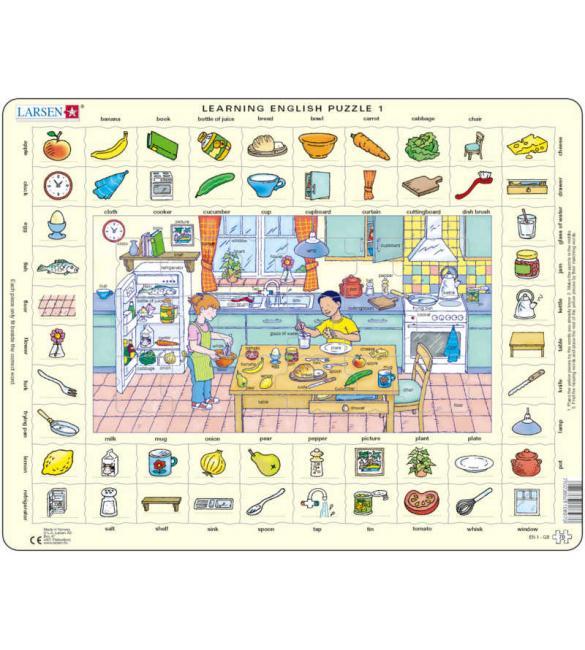 Пазлы Учим английский - Кухня