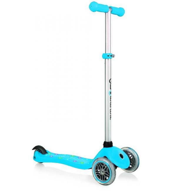 Самокат GLOBBER серии PRIMO STARLIGHT, синий, платформа с подсветкой, до 50кг, 3+, 3 колеса