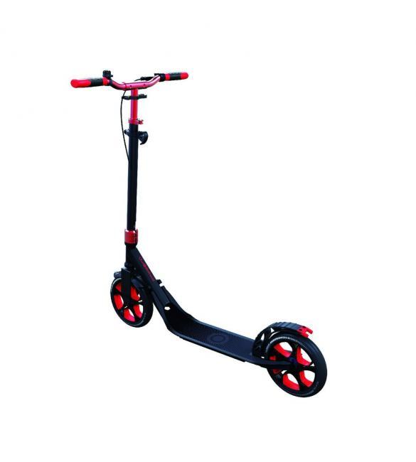 Самокат GLOBBER серии ONE NL 230 ULTIMATE, красно-серый, до 100кг, от 1.55м, 2 колеса