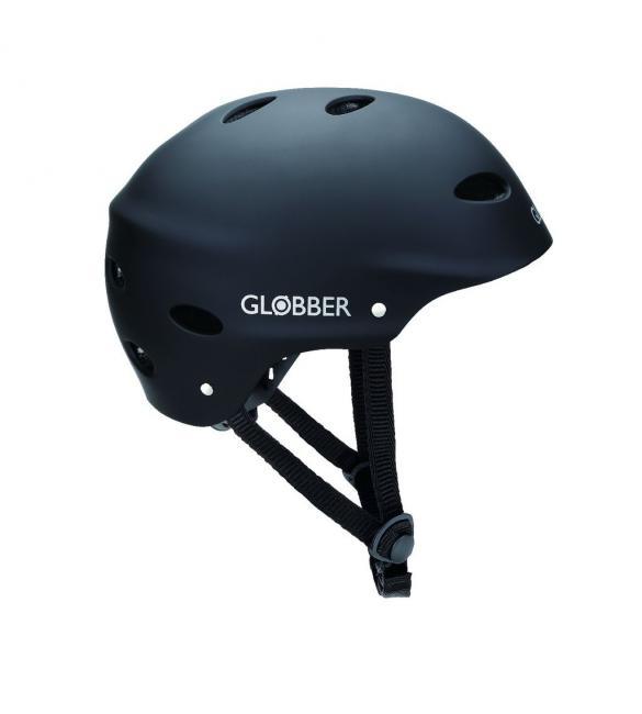 Шлем защитный подростковый GLOBBER, черный, 57-59см (M)