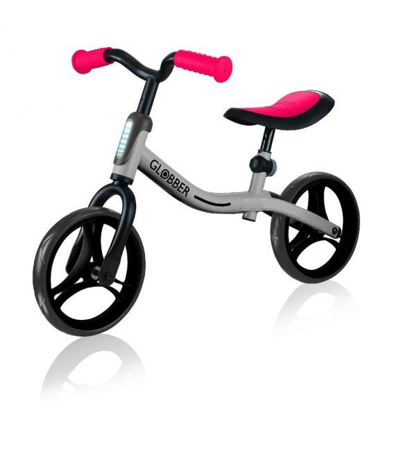 Беговел GLOBBER серии GO BIKE, серебристо-красный, до 20кг, 2+, 2 колеса