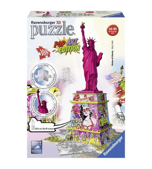 Объемный пазл Статуя Свободы в стиле поп-арт