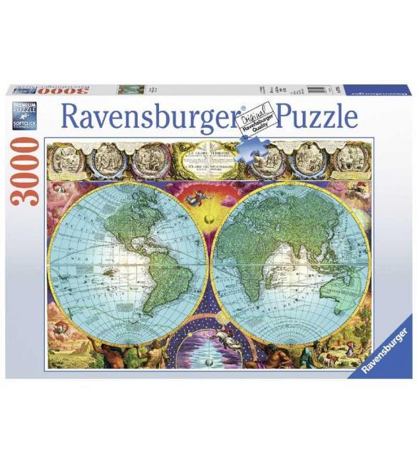 Пазлы Античная карта мира 3000