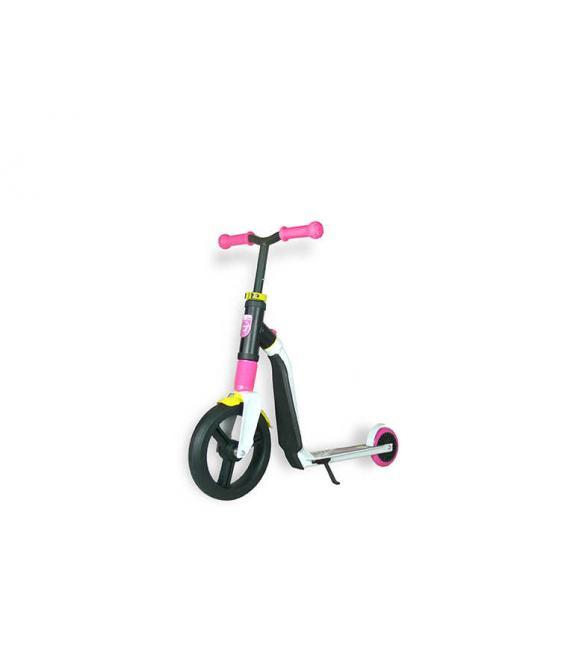 Самокат Scoot and Ride серии Highwayfreak 3.0 бело-розово-желтый, 3-5 лет до 50кг